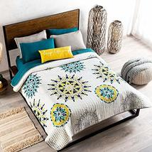 Multicolor Reversible Abstract Circles Comforter Queen Size Soft and Fre... - $160.38