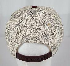 Vtg Illinois Map Snapback Hat Cap Corduroy Bill IL Roadmap Burgundy Made in USA image 6