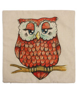 Owl Throw Pillow Cover Cushion Case 18 x 18 - $11.29