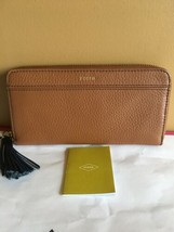 Fossil %Authentic Brown Tara Clutch Zip Around Wallet With Tassel Nwt - $39.99