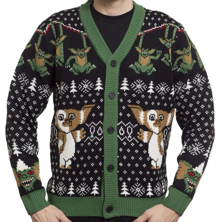 Gremlins Mondo Ugly Sweater Cardigan XL 2XL 3XL Christmas Sweater Funny for sale  USA