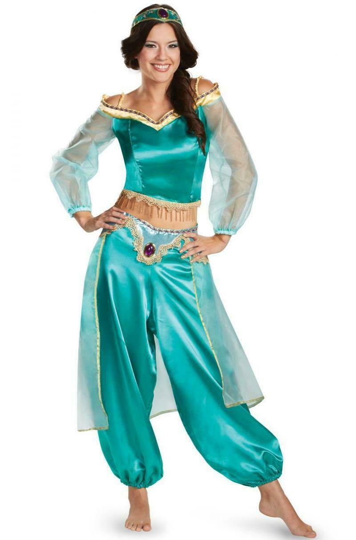 Princess Costumes Aladdin Magic Lamp Jasmine Cosplay Adult Carnival Party Masque
