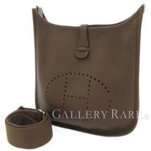HERMES Evelyne 3PM Taurillon Clemence Cacao Shoulder Bag France #Q Authe... - $2,419.30