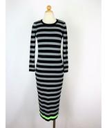 Midi Dress Knit Dress Boutique by Jaeger Metallic Striped Dress NEW M NW... - $57.42