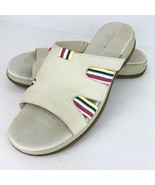 Liz Claiborne Flex Sandy Size 11 Beige Suede Leather Slip On Slides Sand... - $39.59