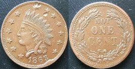 1863 Indian Head / Not One Cent Some Strong Details  20120186 - $37.39