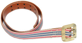 Rugby by Ralph Lauren Women Fabric/Leather Casual Belt (Brown/Blue/Pink/white) - $29.95