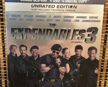 The Expendables 3: Unrated Version(2-Discs Blu-ray/DVD, 2014)+Embossed Slipcover