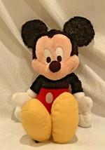 "Mickey Mouse Walt Disneyland Disney World 11"" Fuzzy Plush Stuffed Animal - $15.19"
