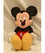 "Mickey Mouse Walt Disneyland Disney World 11"" Fuzzy Plush Stuffed Animal - $15.19"