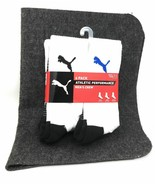 Puma New Mens 6 Pack Crew Sports Socks Size 6-12 White Black Blue Athlet... - $19.80