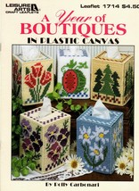 A Year of Boutiques in Plastic Canvas Watermelon Tulips Pumpkins Poinse... - $7.50