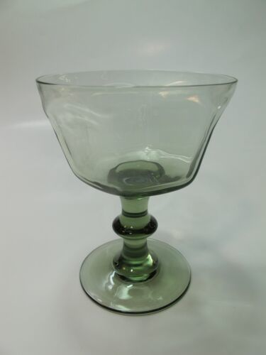 Primary image for Lenox Green Antique pattern dessert glass lead Crystal Made in USA