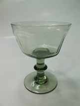 Lenox Green Antique pattern dessert glass lead Crystal Made in USA - $8.60