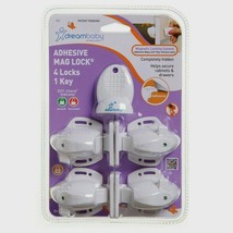 Dreambaby L855A ADHESIVE MAGNET LOCK 4 Locks 1 Key Baby Proof Magnetic ... - $19.99