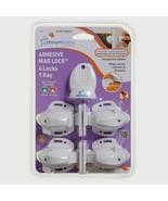 Dreambaby L855A ADHESIVE MAGNET LOCK 4 Locks 1 Key Baby Proof Magnetic ... - $19.99