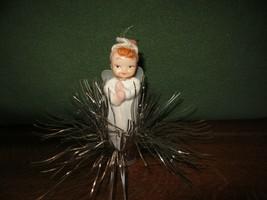 "Vintage Plastic Angel With Tinsel Burst Christmas Ornament 7"" Japan (2) - $15.00"