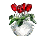 Four Roses Vase Crystal Glass for Home Decor Table Decoration Wedding Valentine