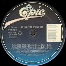 WILL TO POWER - FADING AWAY U.S. 12 INCH SINGLE RECORD 1988 4 TRACKS FRE... - $4.95