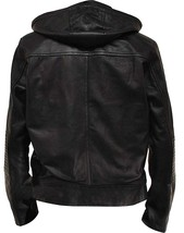 Tom Cruise Mission Impossible Ghost Protocol Black Hooded Faux Leather Jacket image 2