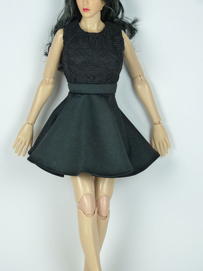 Cy Girl NT Female Black Ribbon Heel Shoes 1//6 Phicen Kumik TTL ZC Hot Toys