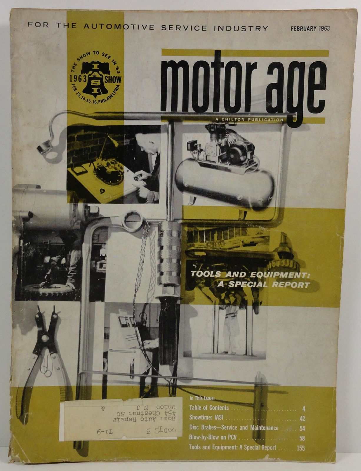 Motor Age February 1963 A Chilton Publication Tools and Equipment