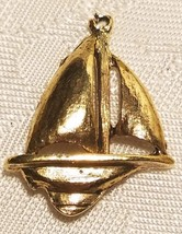 SAIL BOAT FINE PEWTER PENDANT - 18.5x24x5mm image 2