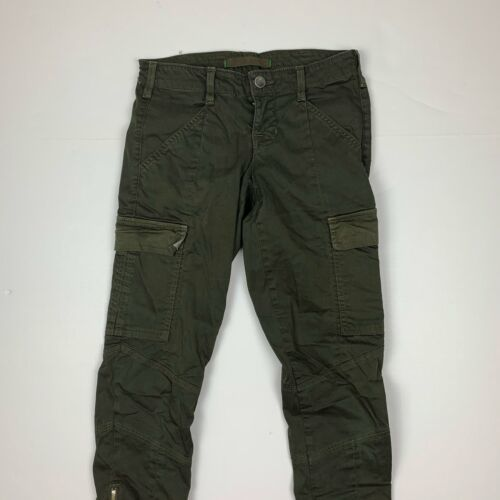 J Brand Cargo Jeans West Point Olive Green USA Women Sz 24 Ankle image 2