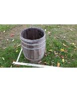 Home Treasure Antique Wooden Barrel Rustic Primitive Old Wood Bent Metal... - $47.49