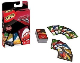 UNO Pixar Cars 3 Card Game Disney Family Friends Travel Card Game Christ... - $14.84