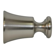 Allen + Roth Mix  Brushed Nickel Aluminum set of  2 Curtain Rod Finials-New - $14.84