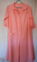 Vintage Pink Nylon Lingerie Negligee Nightgown Robe set Size S - $34.64