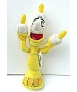 "Disney Plush Beauty & Beast Lumiere The Candelabra Yellow Beanie 9"" Stuf... - $11.49"
