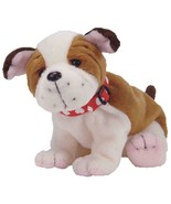 Huggins the Valentine Day Bulldog with Heart Collar Ty Beanie Baby MWMT ... - $9.85