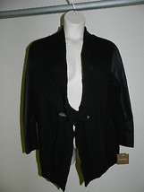 Ellen Tracy Sweater XL Black Mosaik Womens Cardigan NWT $79.50 - $21.29