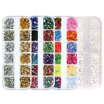 Nail Rhinestones kit Multi-size Gems Metal Nail Rivets Studs (3, 4 or 5 boxes) image 4