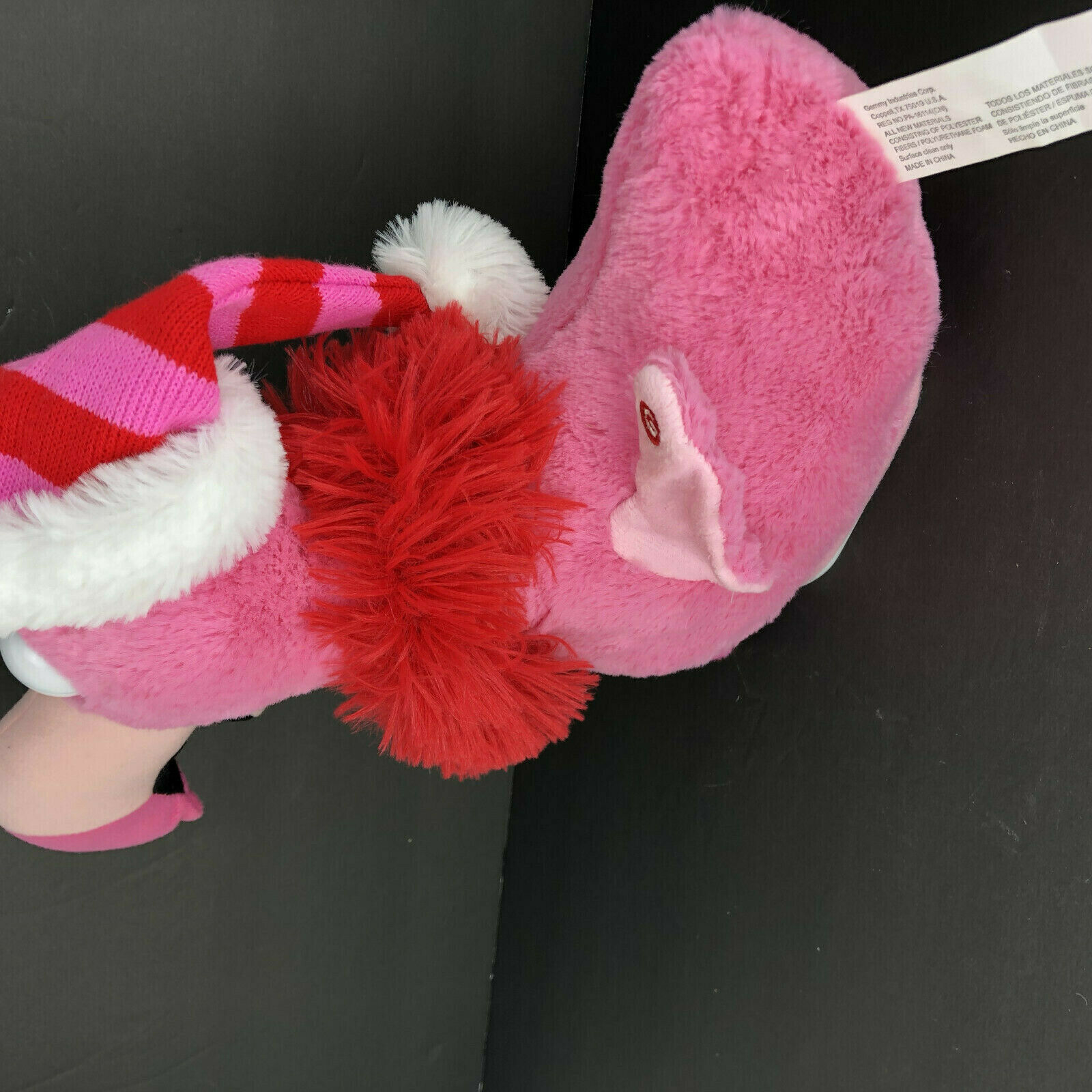 Gemmy Pink Flamingo Animated Singing Dancing Bird Santa Baby Christmas Works