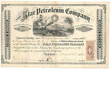 R49c on The Star Petroleum Company Stock Certificate, March 22, 1863, Ne... - $129.00