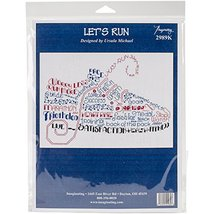 "Imaginating Counted Cross Stitch Kit 10""x7.25""-let's Run (14 Count) - $20.00"