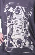 Bench UK Donna Navy Queeny Trifoglio Carte da Gioco Girocollo T-Shirt BLGA2363 image 2