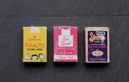 3 Decks Mini Junior playing cards Tom Thumb Hallmark Snoopy Stardust Complete - $15.00