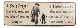 "Metal Cabin Sign ""Son's & Father's Prayer"" by Rivers Edge NEW! 10.5"" x 3.5"" - $14.95"