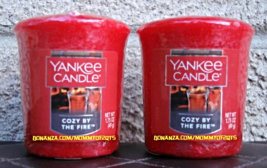 Cozy by the Fire Yankee Candle Votive Set of 2 Scented Wax Home Candlescape - $5.00