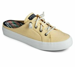 Sperry Women's Crest Vibe Mule Chambray Sneakers Yellow Size 6 - $59.39