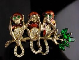 Vintage monkey brooch - Enamel monkey pin - whimsical gift -- figural pin  - $145.00
