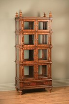 Classic Medium Brown Finish Glass Panel 8-doors China Cabinet by AA Impo... - $2,170.00