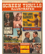SCREEN THRILLS ILLUSTRATED #10 February 1965 - JAMES BOND, BEATLES, LONE... - $152.99