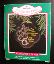 Hallmark Keepsake Christmas Ornament 1988 Five Golden Rings 12 Days Of C... - $9.99