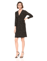 Anne Klein Dress Therese Faux Wrap Leaves Multicolor Sz M NEW NWT 220 - $49.50