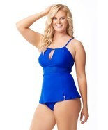 Sea & Sand Beachwear Keyhole Swimdress Bathing Suit - £24.27 GBP+
